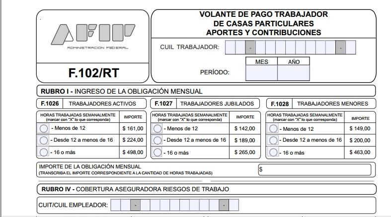 servicio dom stico c mo es el nuevo formulario 102 rt On nuevo formulario empleada domestica 2016