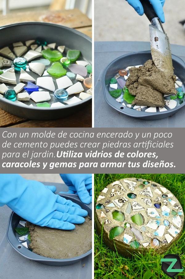 Piedras artificiales para tu jard n zolversblog - Moldes para piedras artificiales ...